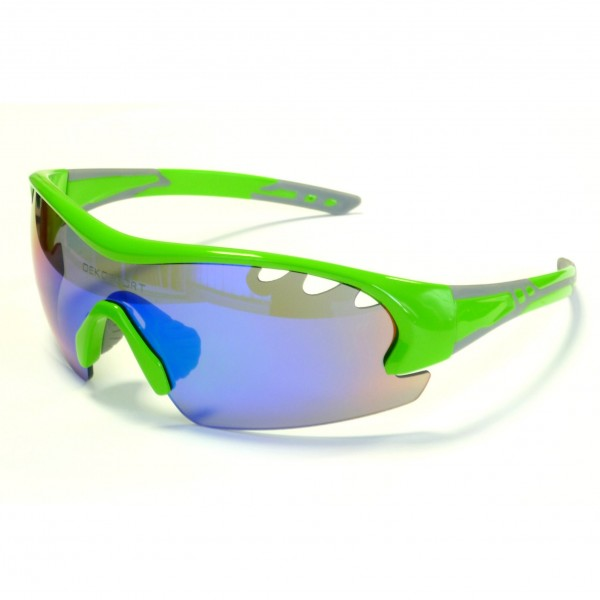 DEKO AIR cycling glasses fluorescent green color