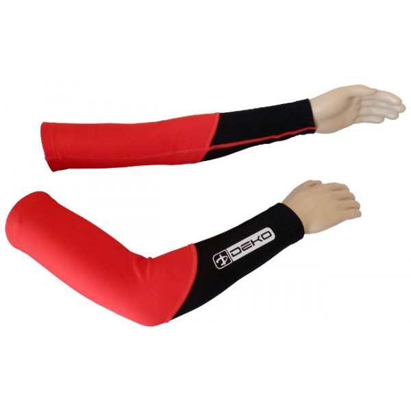 DEKO DUAL arm warmer red/black color