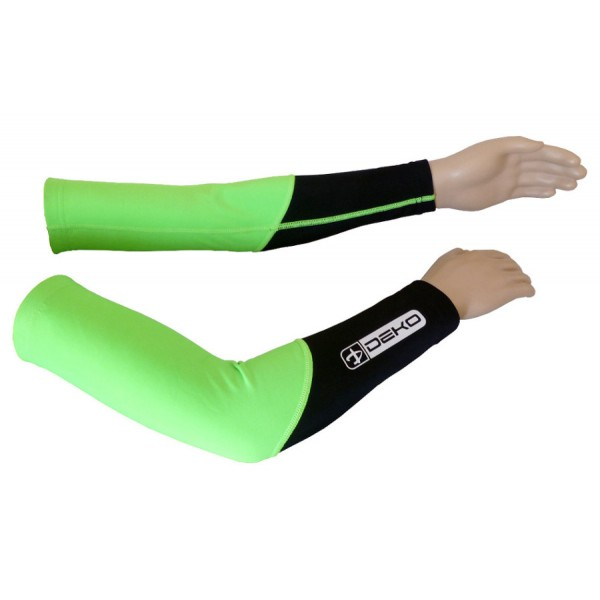 DEKO DUAL arm warmer fluorescent green/black color