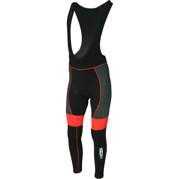 DEKO LEADER winter bib tights black/red color