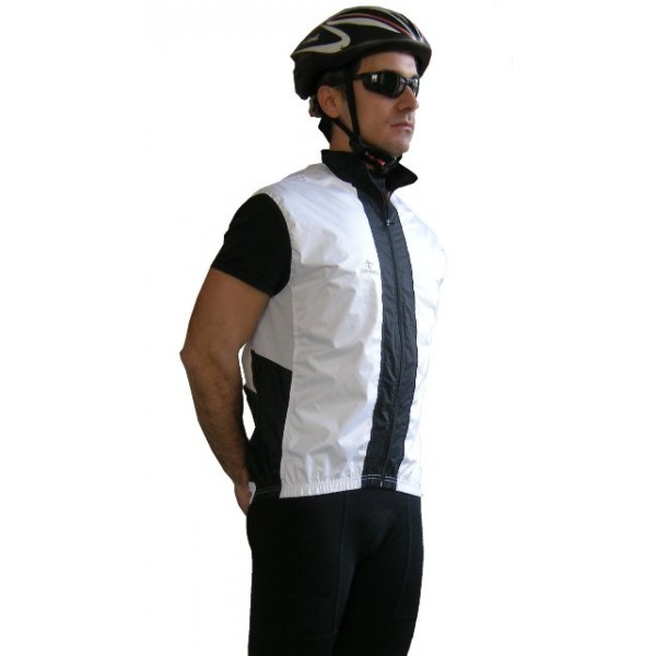 DEKO SHELL cycling gilet white/black color