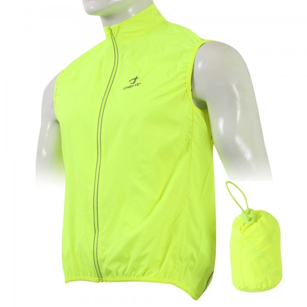 DEKO FRESH cycling gilet fluorescent yellow color