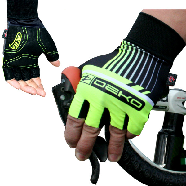 DEKO STYLE gloves fluorescent yellow/black color