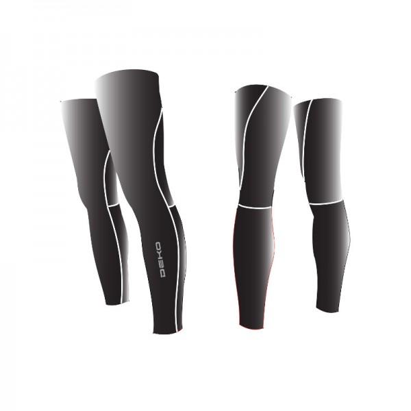 DEKO DUAL leg warmer black color