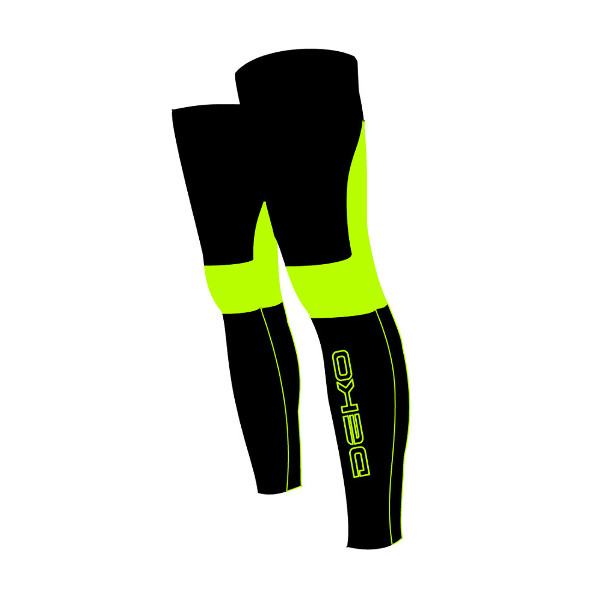 DEKO NEW DUAL leg warmer fluorescent yellow/black ...
