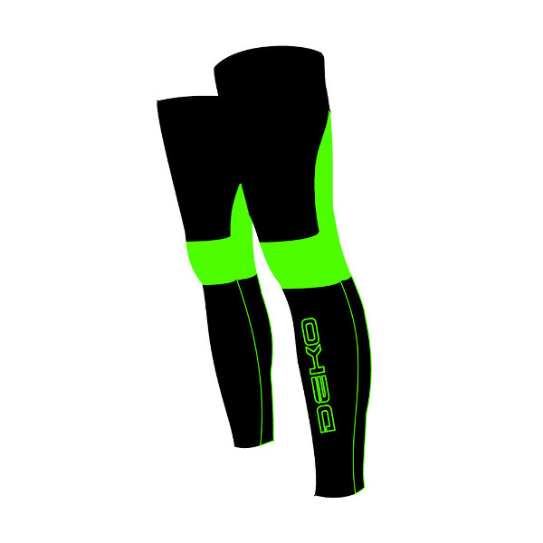 DEKO NEW DUAL leg warmer fluorescent green/black