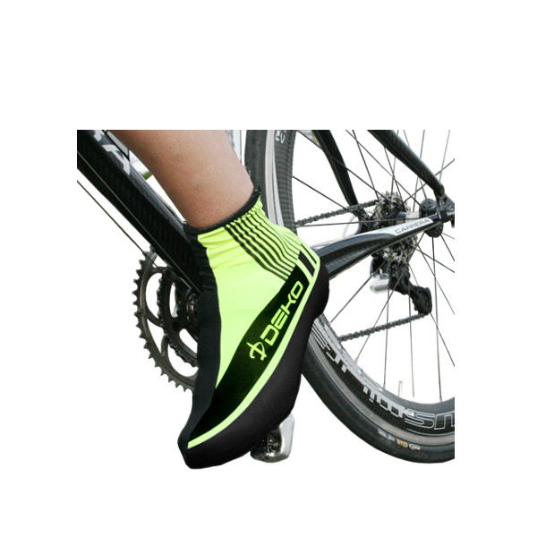 DEKO STYLE shoe covers fluorescent yellow/black co...