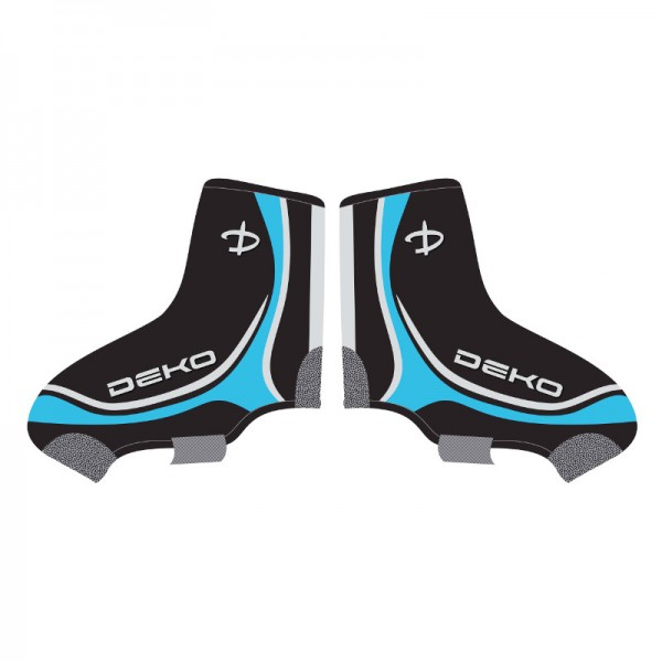 DEKO NEW GRAPHICS shoe covers black/white/blue col...