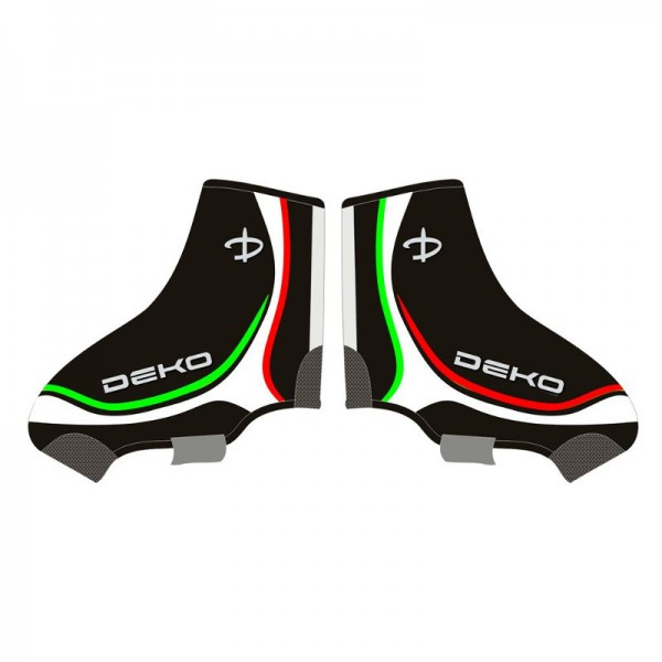 DEKO NEW GRAPHICS shoe covers black/tricolor color