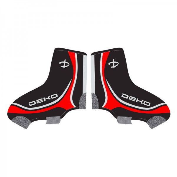 DEKO NEW GRAPHICS shoe covers black/white/red colo...