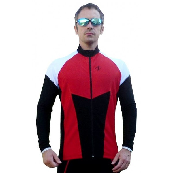 DEKO HALF winter jersey red/black/white color