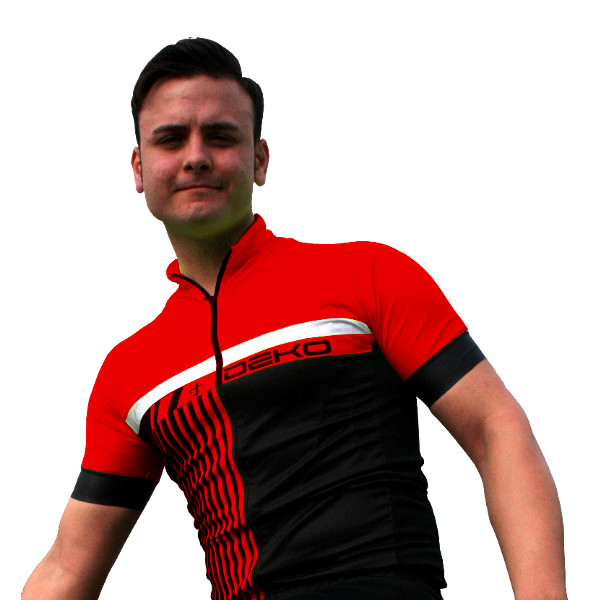 DEKO STYLE summer jersey black/red color
