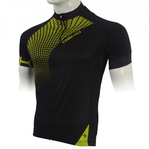 DEKO TECH summer jersey black/fluorescent yellow c...