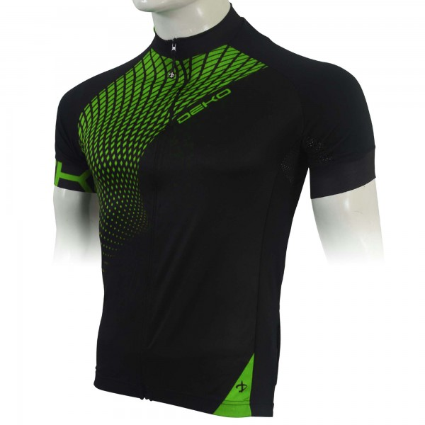 DEKO TECH summer jersey black/fluorescent green co...