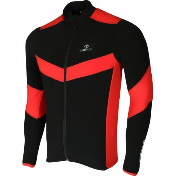 DEKO LEADER winter jersey balck/fluorescent yello...