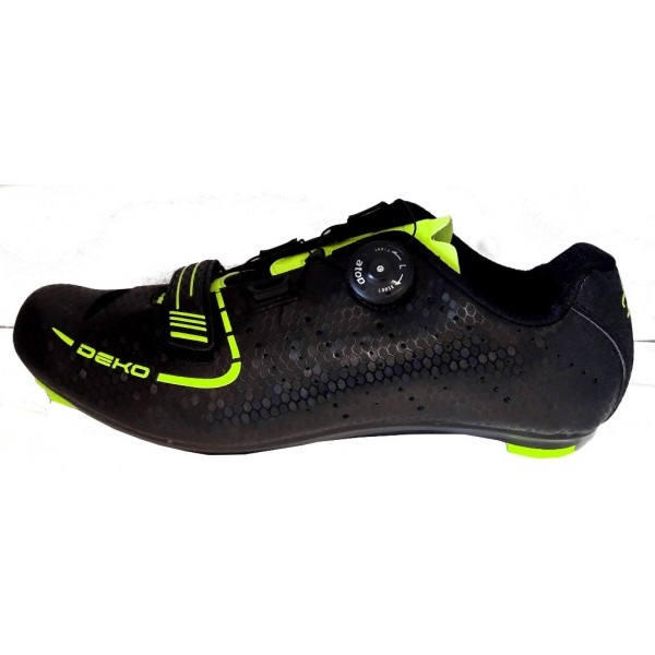 DEKO SPEED road bike shoes black/fluorescent yello...