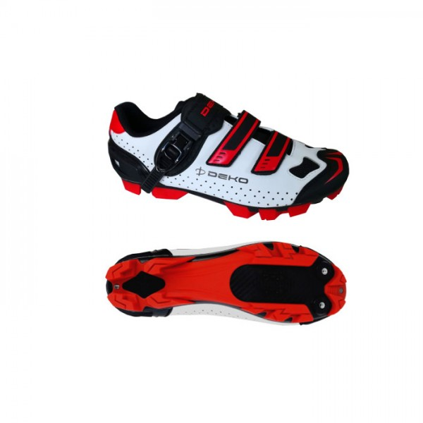 DEKO ASPIDE 2 mountain bike shoes white/black/red ...