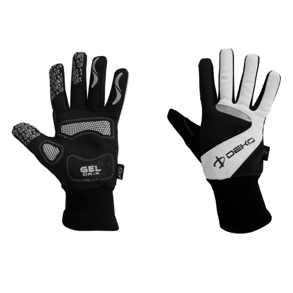 DEKO NEW VELVET winter gloves black/white color