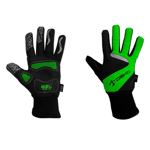 DEKO NEW TECH winter gloves black/fluorescent gree...