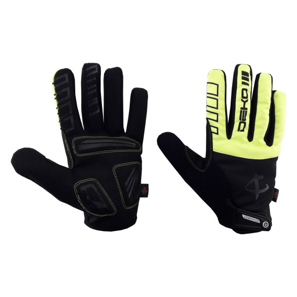 DEKO NEW TECH winter gloves black/fluorescent yell...