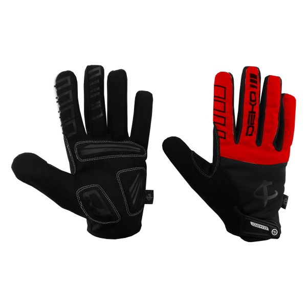 DEKO NEW TECH winter gloves black/red color