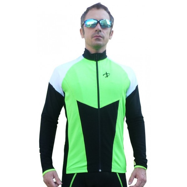 DEKO HALF winter jersey fluorescent green/black co...