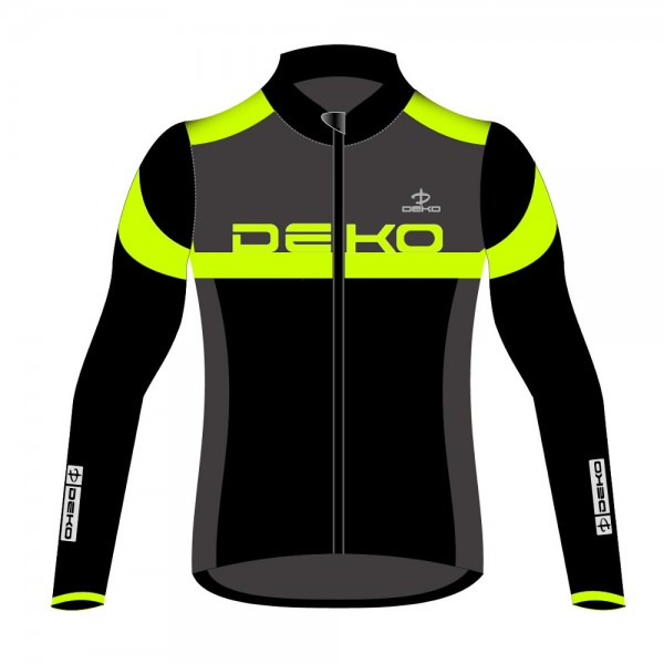 DEKO LEADER 2 winter jersey black/grey/fluorescent...