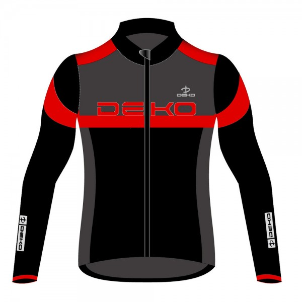 DEKO LEADER 2 winter jersey black/grey/red color