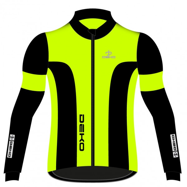 DEKO LEADER 2 winter jacket fluorescent yellow/bla...