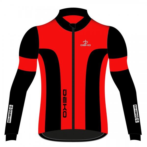 DEKO LEADER 2 winter jacket red/black color